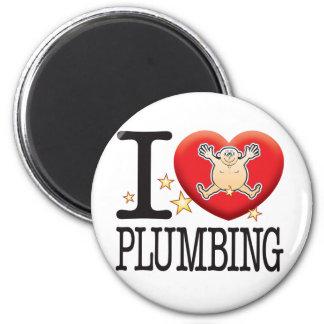Plumbing Love Man 6 Cm Round Magnet