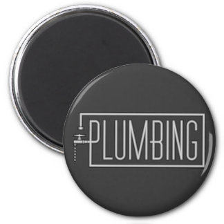 Plumbing - Pipes and Dripping Facet 6 Cm Round Magnet