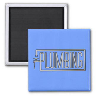Plumbing - Pipes and Dripping Facet Square Magnet