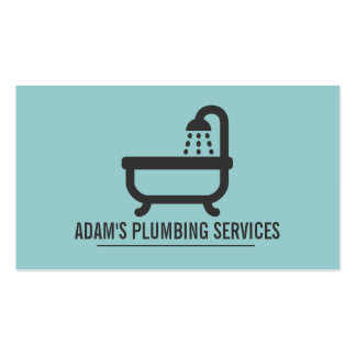 Plumbing Plumber Faucet Water Handyman Maintenance Business Cards
