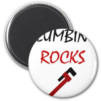 Plumbing Rocks 6 Cm Round Magnet