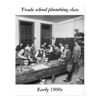 Plumbing School, early 1900s Postcard