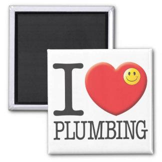 Plumbing Square Magnet