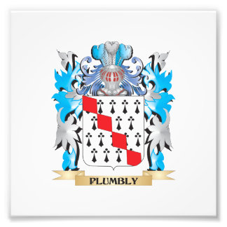 Plumbly Coat of Arms - Family Crest Photograph
