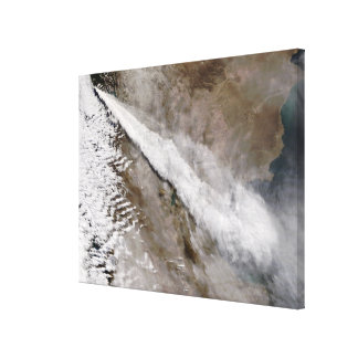 Plume from eruption of Chaiten volcano, Chile Canvas Print