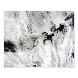 Plume from Okmok Volcano, Aleutian Islands Photo Print