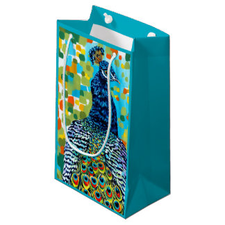 Plumed Peacock II Small Gift Bag