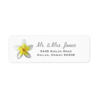 Plumeria Address Labels