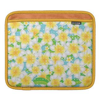Plumeria Beach Flowers & Blue Sky iPad Sleeve