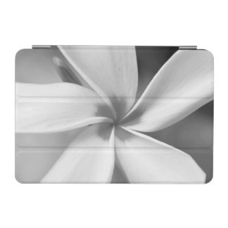 Plumeria - Black and White Macro Portrait iPad Mini Cover