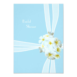 Plumeria Bouquet Beach Bridal Shower Invitation