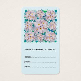 Plumeria Bouquet Exotic Summer Pattern Business Card
