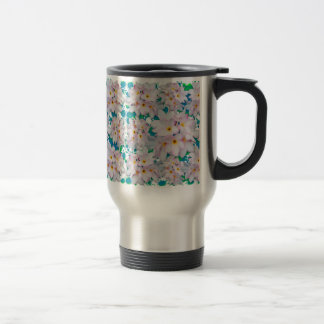 Plumeria Bouquet Exotic Summer Pattern Travel Mug