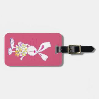 Plumeria Bunny Luggage Tag