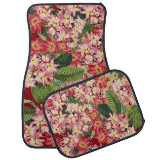 Plumeria Floral Flowers Tropical Floor Mats