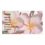 Plumeria Flowers Business Card