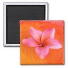 Plumeria Frangipani Hawaii Flower Customised Blank Magnet