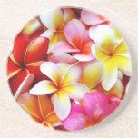 Plumeria Frangipani Hawaii Flower Customised Drink Coaster