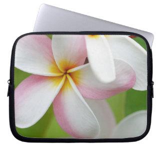 Plumeria Frangipani Hawaii Flower Customized Blank Laptop Sleeve
