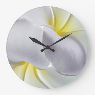 Plumeria Frangipani Hawaii Flower Customized Blank Large Clock