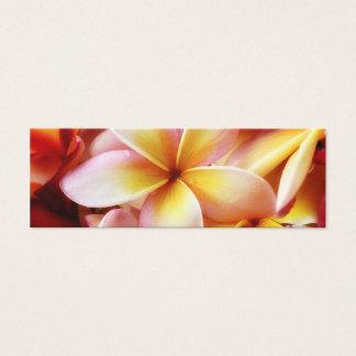 Plumeria Frangipani Hawaii Flower Customized Blank Mini Business Card
