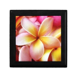 Plumeria Frangipani Hawaii Flower Customized Blank Small Square Gift Box