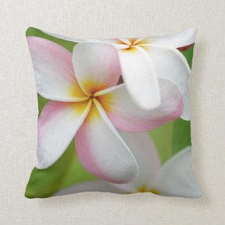 Plumeria Frangipani Hawaii Flower Customized Blank Throw Cushions