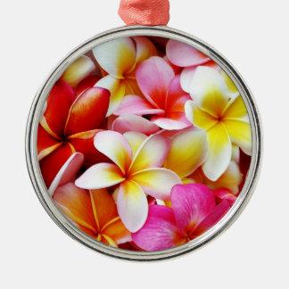 Plumeria Frangipani Hawaii Flower Customized Christmas Ornament