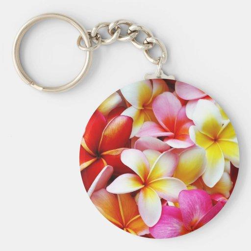 Plumeria Frangipani Hawaii Flower Customized Key Chain