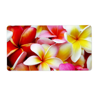 Plumeria Frangipani Hawaii Flower Customized Shipping Label