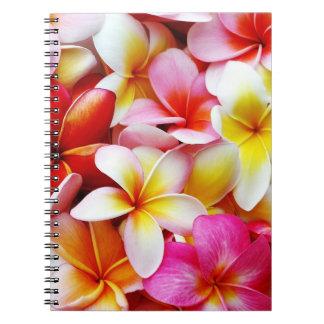Plumeria Frangipani Hawaii Flower Customized Spiral Notebook