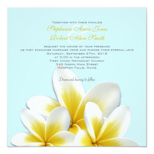 Plumeria Frangipani Tropical Wedding Invitations