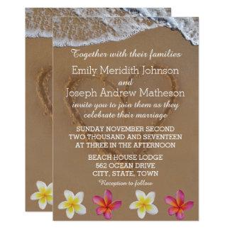 Plumeria / Frangipani Wedding Invitations