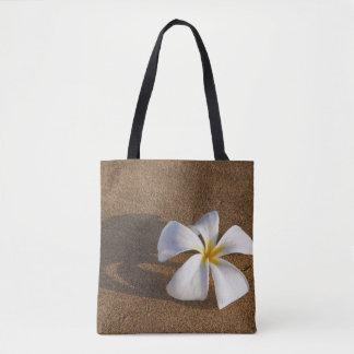 Plumeria on sandy beach, Maui, Hawaii, USA Tote Bag