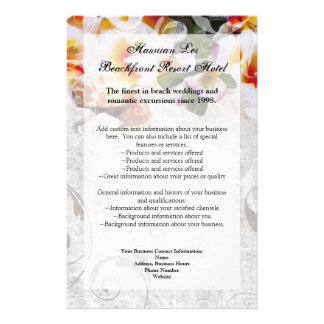 Plumeria Orchid Lei in Sand Program Flyer