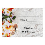 Plumeria Orchid Lei in the Sand Beach PlaceCards Business Card Template