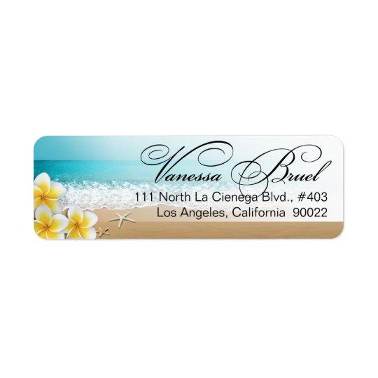 Plumeria Starfish Beach Tropical Wedding Hawaii