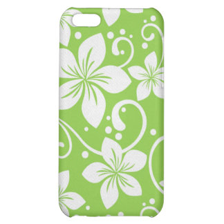 Plumeria Swirl Lime Cover For iPhone 5C