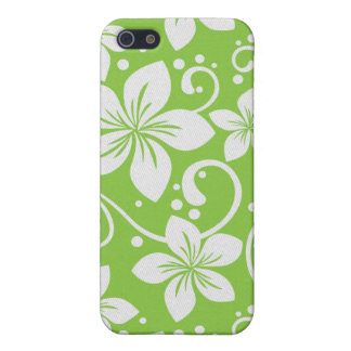 Plumeria Swirl Lime iPhone 5 Cover