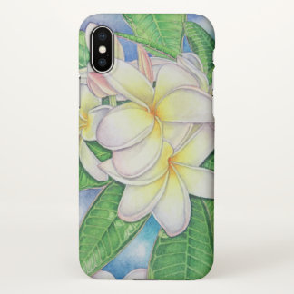 Plumeria Watercolor iPhone X Case