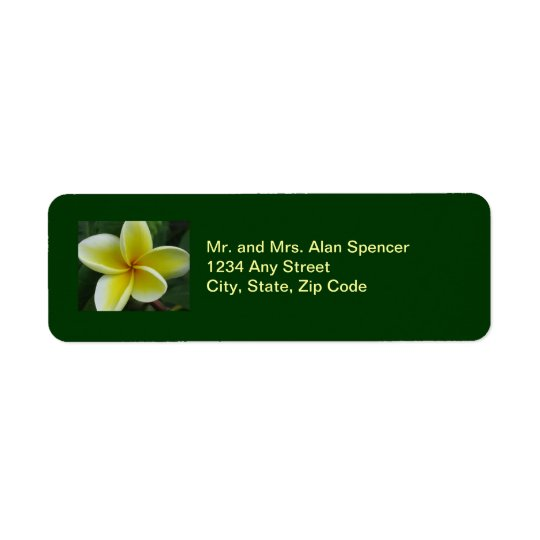 Plumeria Wedding Labels