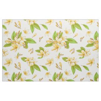 Plumeria - White Fabric