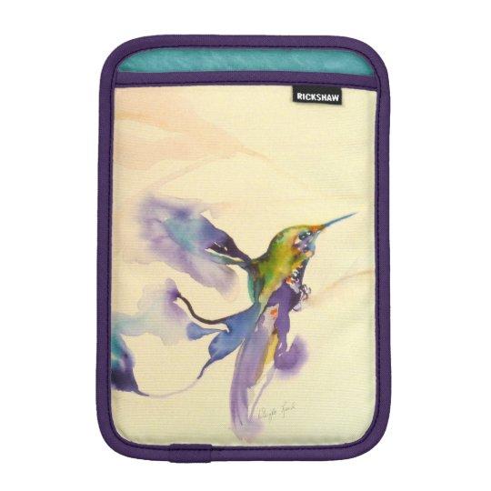 """""""Plumes of Purple"""" Hummingbird Print iPad Mini Sleeve"""