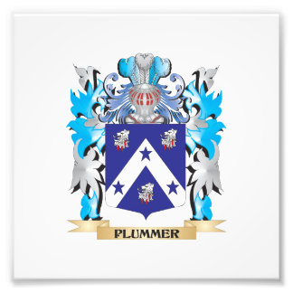 Plummer Coat of Arms - Family Crest Photographic Print