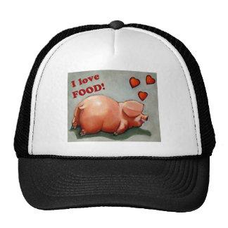 PLUMP PIGGY I LOVE FOOD TRUCKER HAT