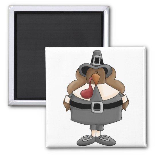plump pilgrim turkey magnet