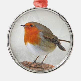 Plump Robin Redbreast Christmas Ornament
