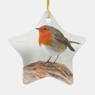 Plump Robin Redbreast Christmas Ornament