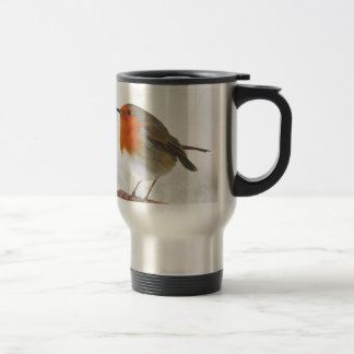 Plump Robin Redbreast Stainless Steel Travel Mug