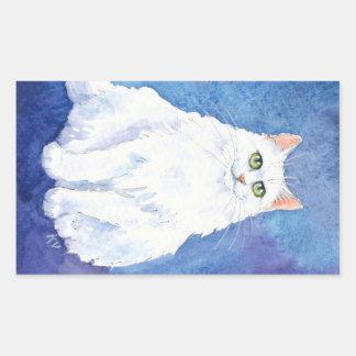 Plump white cat stickers